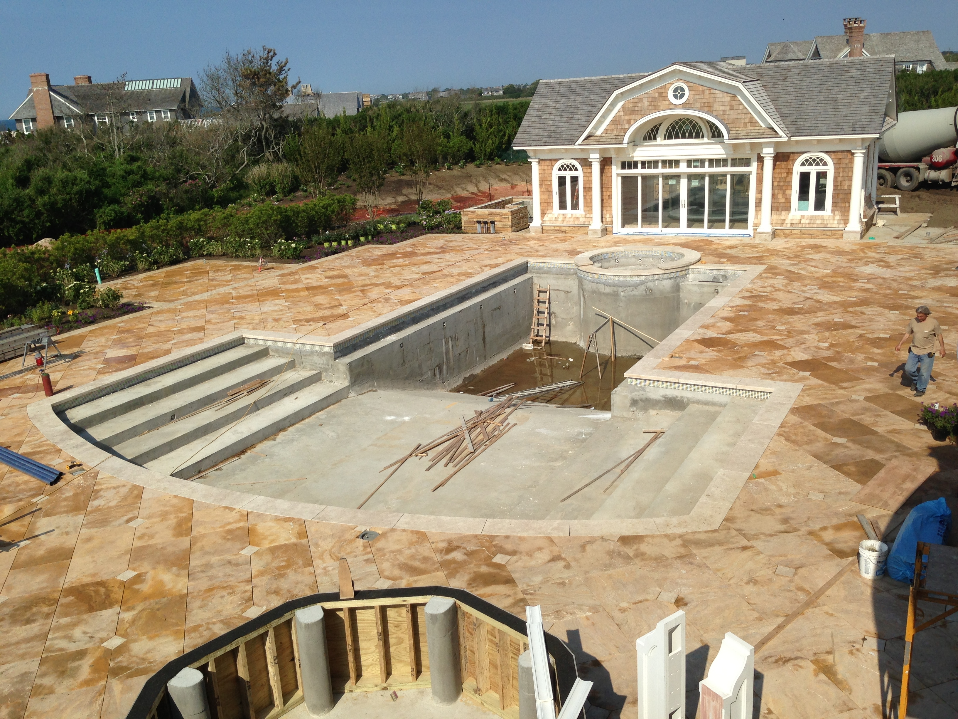Pool Area - In Progress