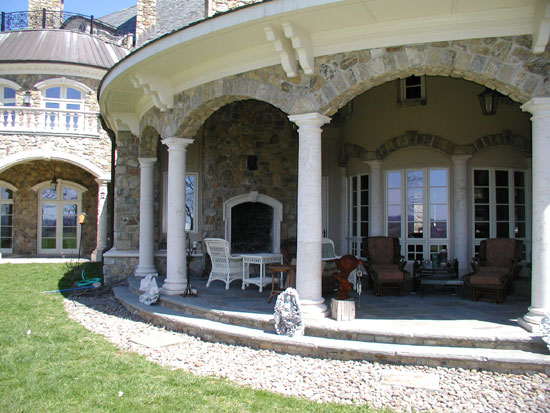Tuscan Columns at Side Porch