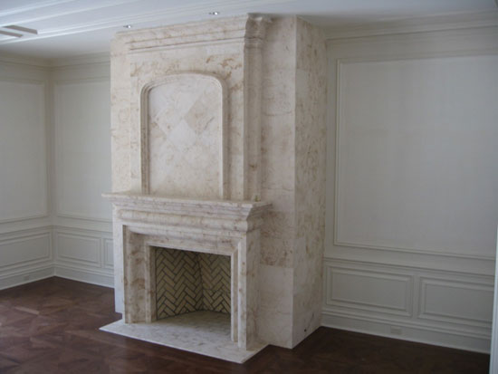 Fireplace with Veneer on Returns