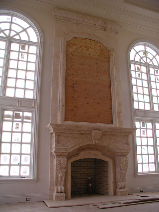 Fireplace with Overmantle Frame