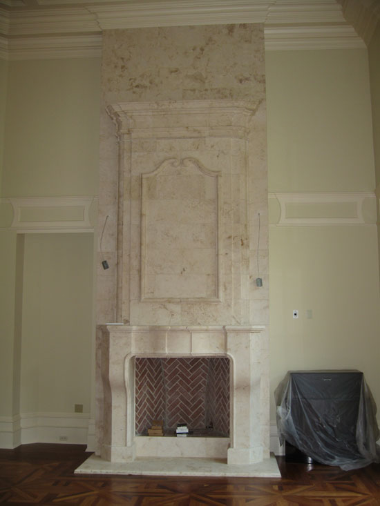 Country French Fireplace with Overmantel