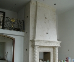 Fireplace with Overmatle