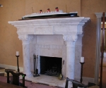 Fireplace with Corinthian Columns