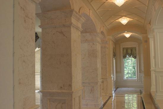 Interior Stone Hallway