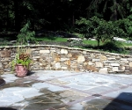 Patio and Wall
