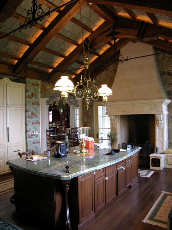 European Stone Kitchen Hood