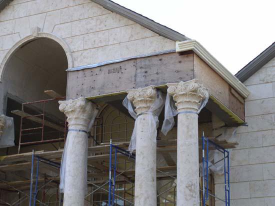 Corinthian Column at Exterior Entry