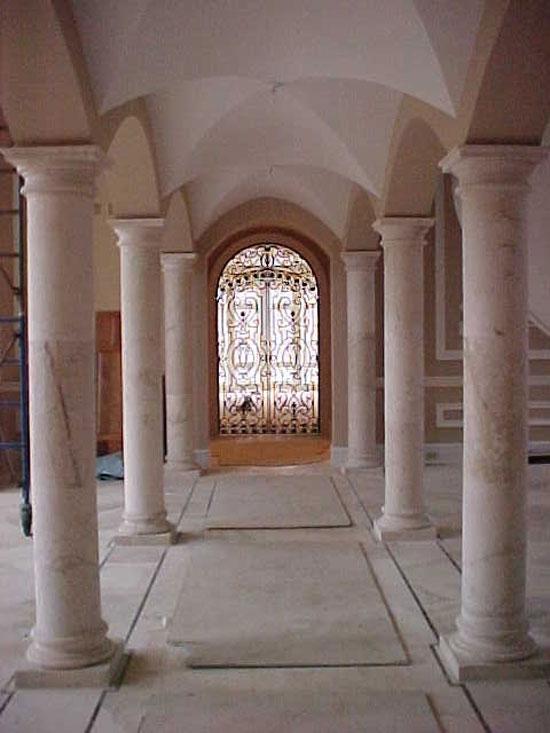 Tuscan Columns at Exterior Hallway