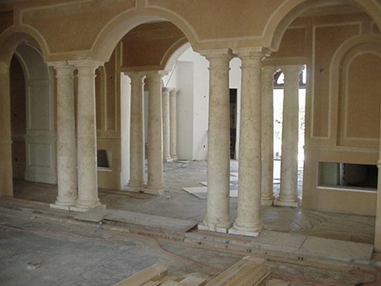 Tuscan Columns at Interior Grand Entry