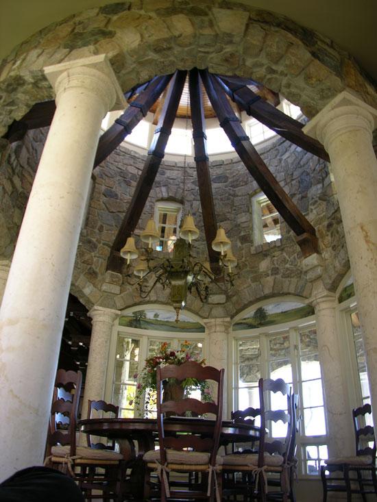Tuscan Hall Columns at Dining Room