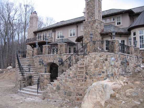 Iron Rail at Rear Patio - Stairs & Upper Balcony
