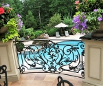 Iron Rail Over Pool