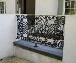 Patio Rail with Bronze