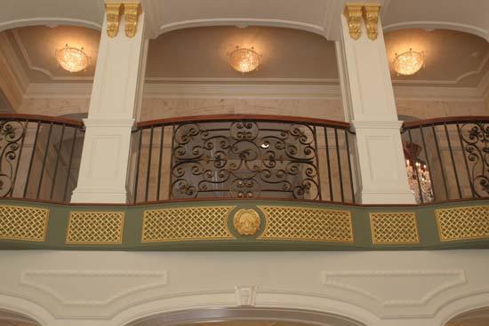 Iron Rail Overlooking Great Hall