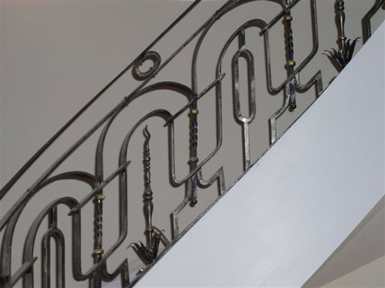 Iron Rail with Natural Finish