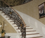Stair with Custom Bronze Accents