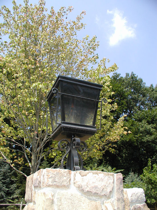 Pier Mount Gas Light