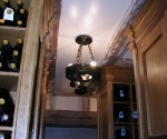 Wine Cellar Chandelier with Wax Finish