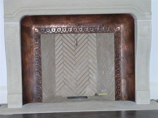 Copper Repose Fireplace Surround