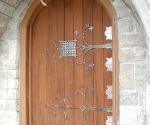 Custom Hammered Iron Door Straps