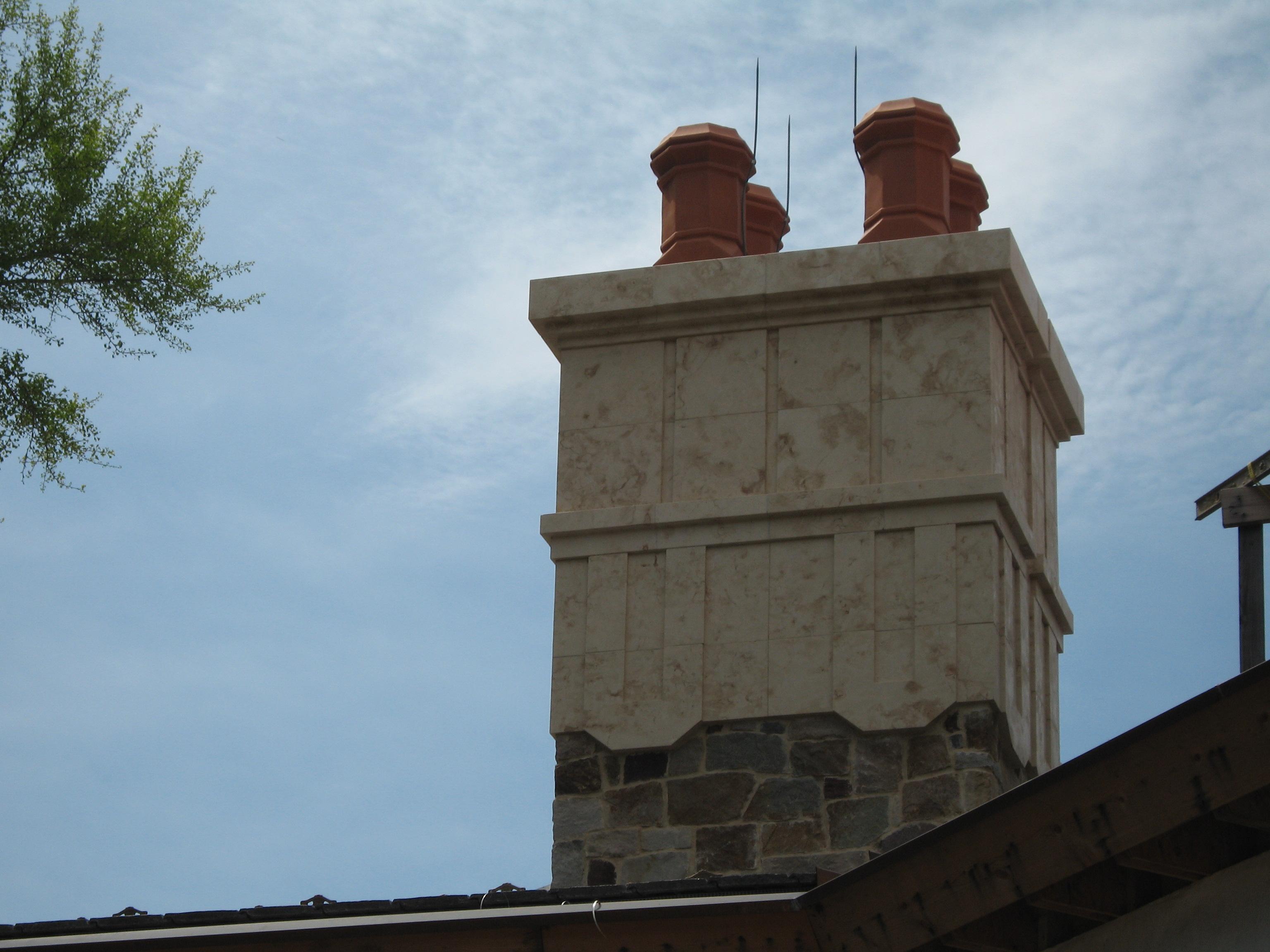 Chimney Cap with Claypots