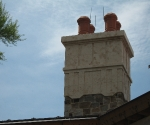 Chimney Cap with Claypots